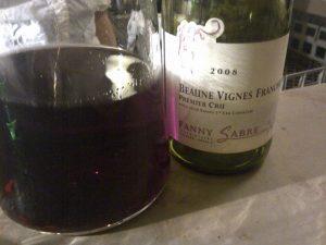 Fanny Sabre Beaune Vignes Franches 2008 pour le Volatile