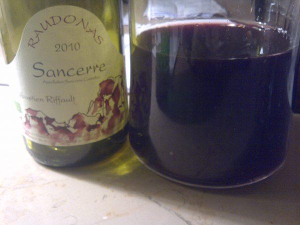 Sébastien Riffault Sancerre Rouge 2010 Cuvée Raudonas pour TheVolatile