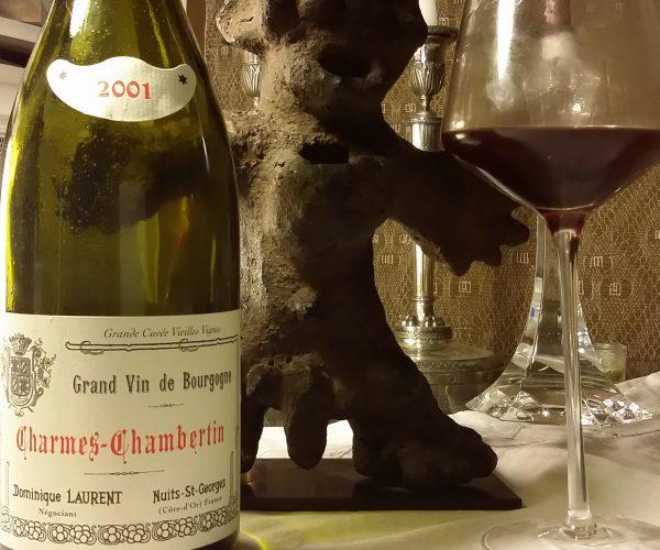 Dominique Laurent Charmes-Chambertin 2001 Cuvée Vieilles Vignes pour le Volatile 13 avril 2014