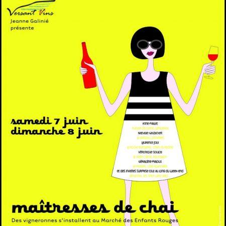Paris, 8 juin, Les Maitresses du Vin, Marché des Enfants Rouges The Volatile
